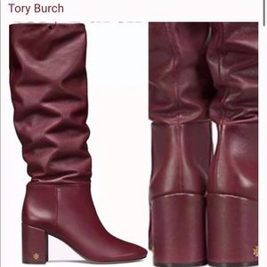 Tory BURCH Brooke Slouchy Leather Tall Boots
